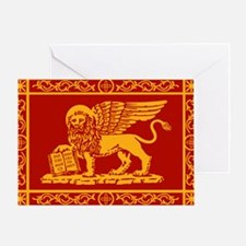 venetian flag rug Greeting Card