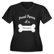 Pekingese Proud Parent Women's Plus Size V-Neck Da