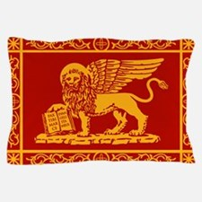 venetian flag rug Pillow Case