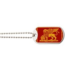 venetian flag rug Dog Tags