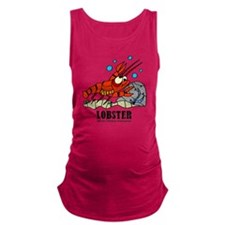 Cartoon Lobster by Lorenzo Maternity Tank Top