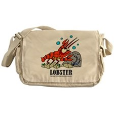Cartoon Lobster by Lorenzo Messenger Bag