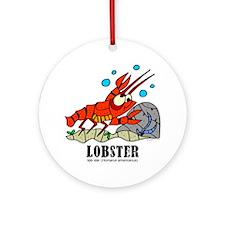 Cartoon Lobster by Lorenzo Round Ornament