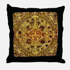 Aztec Calendar Throw Pillow