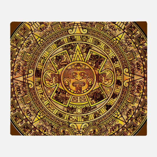 Aztec Calendar Throw Blanket