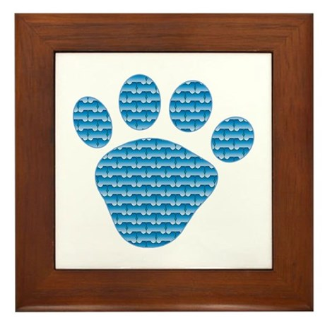 Bone Mutt Framed Tile