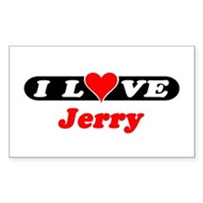 I Love Jerry Rectangle Decal