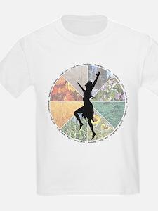 Dancing the Wheel of the Year Kids T-Shirt