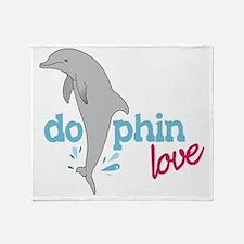Dolphin Love Throw Blanket