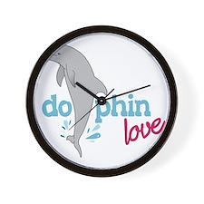 Dolphin Love Wall Clock