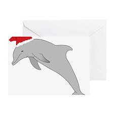 Santa Dolphin Greeting Card