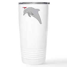 Santa Dolphin Travel Mug