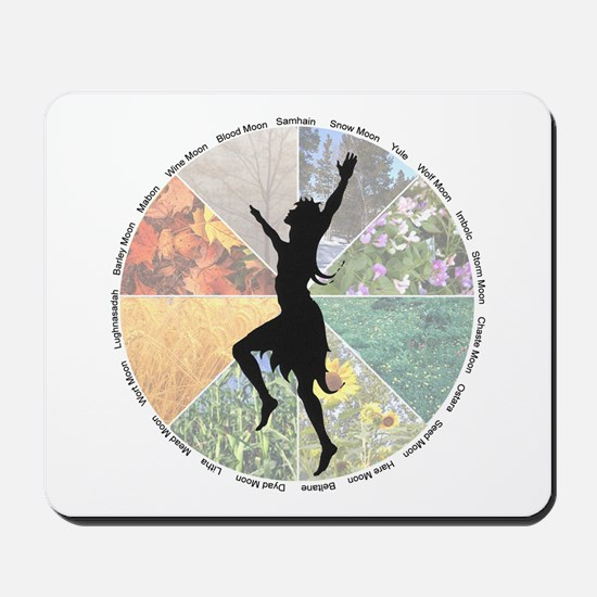 Dancing the Wheel of the Year Mousepad