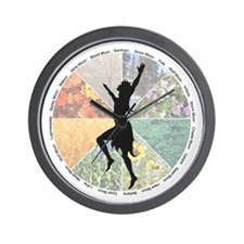 Dancing the Wheel of the Year Wall Clock