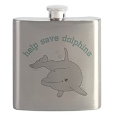 Help Save Dolphins Flask