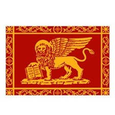 venice flag rug Postcards (Package of 8)