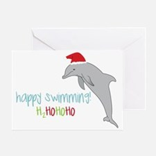 Happy Swimming Greeting Card