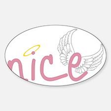 Nice Sticker (Oval)