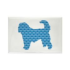 Bone Otterhound Rectangle Magnet