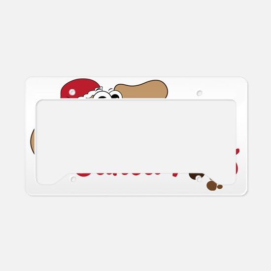 Santa Paws License Plate Holder