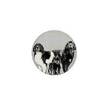 newfoundland dog family Mini Button