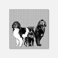 """newfoundland dog family Square Sticker 3"""" x 3"""""""