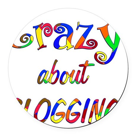 Crazy About Clogging Round Car Magnet