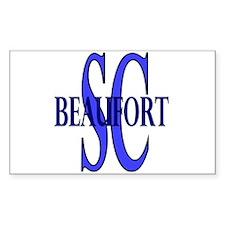 Beaufort South Carolina Rectangle Decal