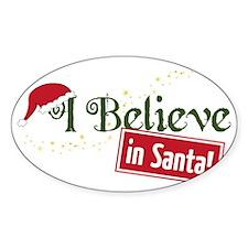 Believe In Santa Decal