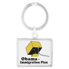 Obama Immigration Plan Landscape Keychain
