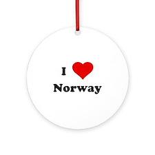 I Love Norway Ornament (Round)