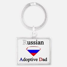 Russian Adoptive Dad Landscape Keychain