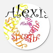 Alexis Round Car Magnet