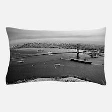 USS Nimitz - Golden Gate Bridge Pillow Case