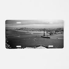 USS Nimitz - Golden Gate Br Aluminum License Plate