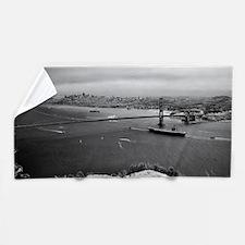 USS Nimitz - Golden Gate Bridge Beach Towel