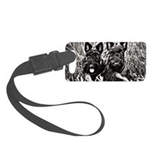 Sisters - Scottish Terriers in B Luggage Tag