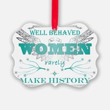 WellBehavedWomen_TURQ Ornament