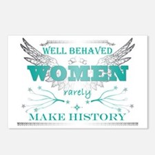 WellBehavedWomen_TURQ Postcards (Package of 8)