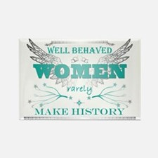 WellBehavedWomen_TURQ Rectangle Magnet
