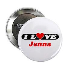 "I Love Jenna 2.25"" Button (10 pack)"