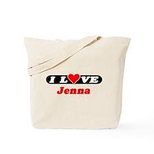I Love Jenna Tote Bag