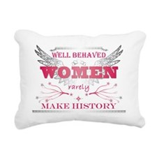 Well Behaved Woman_Pink Rectangular Canvas Pillow