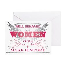 Well Behaved Woman_Pink Greeting Card