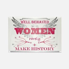 Well Behaved Woman_Pink Rectangle Magnet
