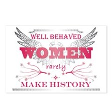 Well Behaved Woman_Pink Postcards (Package of 8)
