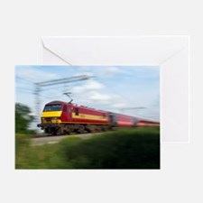 Electric locomotive Greeting Card