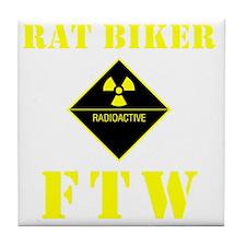 Rat Biker FTW Tile Coaster