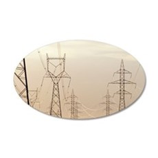 Electricity pylons 35x21 Oval Wall Decal