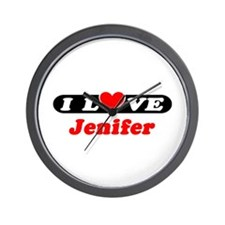 I Love Jenifer Wall Clock
